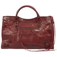 Balenciaga Classic City Leather Bag ($1,099) ❤ liked on Polyvore featuring bags, handbags, balenciaga classic city, collections, red, leather tote, genuine leather handbags, red leather handbags, balenciaga handbags and leather tote purse