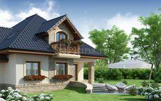 красивые фасады домов с мансардой - Поиск в Google