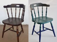 Before and after  - chair makeover