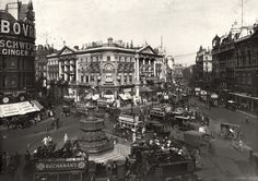 london stereoscopic company 'traffic around the statue of eros in piccadilly circus, london'. charles ginner