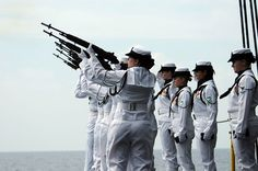 Members of the aircraft carrier USS Ronald Reagan ...