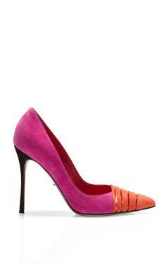 Shop Tri Tone Claire Pumps by Sergio Rossi - Moda Operandi