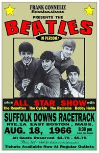 boston concert posters | Beatles 1966 BOX Office Concert Poster Suffolk Downs Boston Mccartney ...