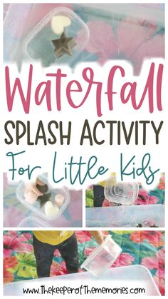 Here's a quick Sensory Activities Toddlers, Kids Learning Activities, Preschool Themes, Toddler Preschool, Easy Science, Science For Kids, Science Nature, Diy Crafts For Kids Easy, Craft Projects For Kids