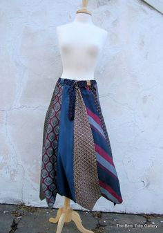 upcycled Silk Necktie Skirt via http://www.etsy.com/listing/98068606/silk-necktie-skirt-eco-upcycled-recycled?ref=cat3_list_23