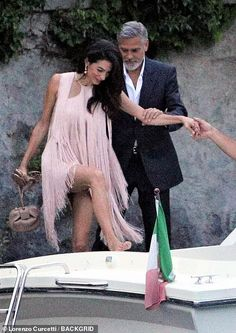 George and Amal Clooney PIC EXC: Couple step out for dinner with Stella McCartney and her husband Amal Clooney, George Clooney, Spring Summer Trends, Summer Chic, Human Rights Lawyer, Stella Mccartney Dresses, Yellow Maxi Dress, Style Finder, Date Dresses
