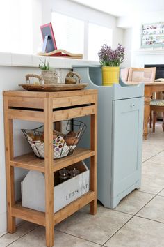 Wood tilt-out trash can cabinet and garbage odor eliminating tips with #ZepSocialstars #ad