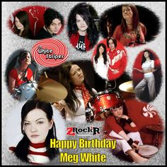 Meg White Collage' Photoartist LisaKay Allen/PassionFeast