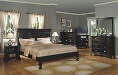 Winners Only Panel Bedroom Set Madison in Ebony - Winners Only Panel Bedroom Set Madison in Ebony finish. Master Bedroom Set, Kids Bedroom Sets, Bedroom Furniture Sets, Queen Bedroom, Bedroom Ideas, Traditional Bedroom, Panel Bed, Home Furnishings, Interior Design