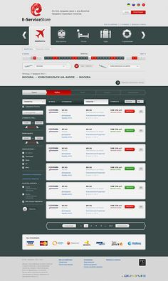 E-ServiceStore / Plane tickets, train tickets, hotels by Dmitry Zyuzin, via Behance