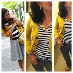 yellow cardigan with black and leopard | Inspiration pic pinned, but originally found here