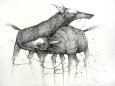 """Saatchi Online Artist: Daria Kudla; Pen and Ink, 2012, Drawing """"You and I"""""""