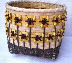 Sunflower Basket Large Handwoven