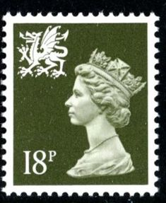 Stamp: Queen Elizabeth II - Decimal Machin (United Kingdom of Great Britain & Northern Ireland) (Queen Elizabeth II - Decimal Machin - Normal Perfs) Mi:GB 938 Uk Stamps, Rare Stamps, Vintage Stamps, Santa Lucia, Stamp Values, Valuable Coins, Stamp Collecting, Mail Art, Abstract Art