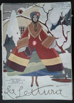 La lettura, Italia, 1927 Cover di Umberto Brunelleschi    #TuscanyAgriturismoGiratola