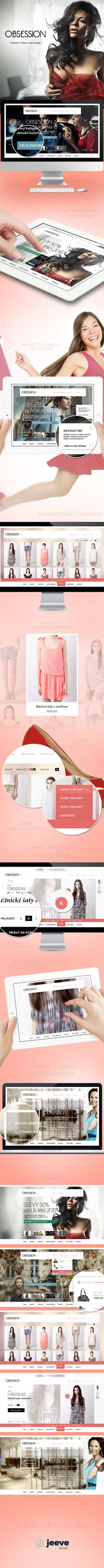 Obsession - Fashion E-Store web design by Jan Vašek, via Behance