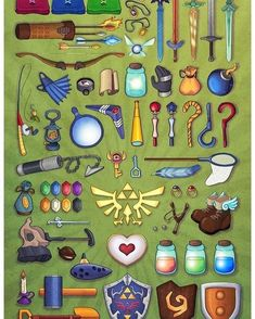 (Zeetali ™) Items - Legend of Zelda: Ocarina of Time The Legend Of Zelda, Legend Of Zelda Breath, Link Zelda, Video Game Art, Video Games, Deco Gamer, Geek Mode, Zelda Tattoo, Pokemon