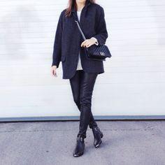 #ootd #outfit #streetstyle #trend #black #booties #chanel #chanelboy #isabelmarant #isabelmarantpourhm #Padgram