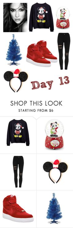 """""""12 days til Christmas"""" by teamsats ❤ liked on Polyvore featuring JLo by Jennifer Lopez, Disney, NIKE, Christmas, day, JLO and countdown"""