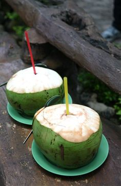 fresh coconut juice. Every morning in the Philippines!!