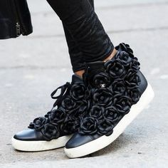 i might just get on this sneaker bandwagon after all... // chanel floral sneakers