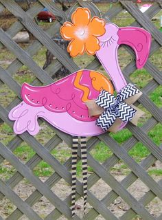 Flamingo Summer Door Hanger Hibiscus by HolidaysAreSpecial on Etsy