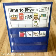 With the Time to Rhyme Cards, students work on hearing the ending sounds to identify a rhyme.