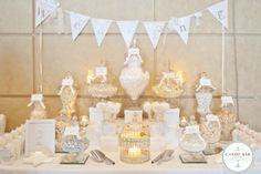 White Wedding Candy Buffet