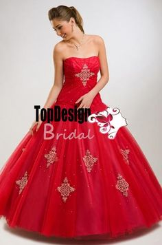 Red Free shipping 2015 new sweet 15 dress appliques with beading quinceanera gown