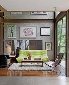 Panos de vidro integram exterior e interior - Casa