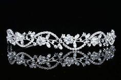 Bridal Flower Rhinestones Crystal Wedding Headband Tiara (Clear Crystals Silver Plated) Venus Jewelry http://www.amazon.com/dp/B00892ZLM8/ref=cm_sw_r_pi_dp_vYrTvb04F4AKD