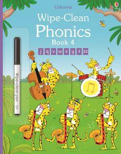 Usborne Wipe Clean Phonics Book 4