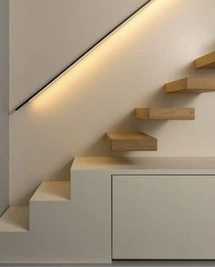 Best Under The Stairs Modern Staircase Design Ideas Stairs Architecture, Architecture Design, Modern Railing, Staircase Design Modern, Stairway Lighting, Ceiling Lighting, Lights On Stairs, Cove Lighting, Escalier Design