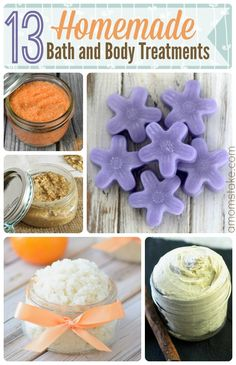 Try one of these relaxing homemade bath products including diy bath salt, easy body butter, and lotion bar recipes.
