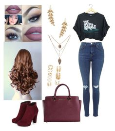 """""""Untitled #241"""" by rhay-q ❤ liked on Polyvore featuring Forever 21, Lumière, Sole Society and Michael Kors"""