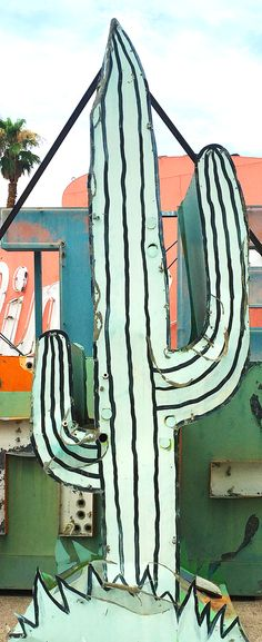 Cactus in the neon graveyard