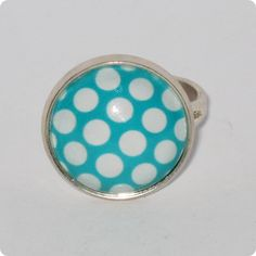 Inel cabochon - Dots are nice Enamel, Dots, Accessories, Stitches, Vitreous Enamel, Enamels, Tooth Enamel, Glaze, Jewelry Accessories