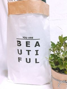 You Are Beautiful Small Storage Paper Bag,paper Storage Bag,paper Bag,toy Storage  Bag,cute Storage Bag,clothes Storage Bag,storage,organize