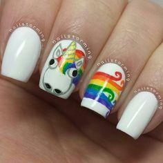 21 Rainbow Nail Art Styles > CherryCherryBeauty.com