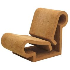 Rare Original Frank Gehry, Easy Edges, Cardboard Contour Chair ca.1982