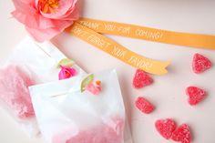 Mini Crepe Paper Flower Favors DIY