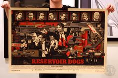 Reservoir Dogs - Variant (Mondo) Poster by Tyler Stout. Edition of Printed by D Screenprinting. Omg Posters, Best Movie Posters, Movie Poster Art, Film Posters, Poster Drawing, Reservoir Dogs Poster, Movie Prints, Poster Prints, Art Prints
