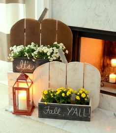 10 DIY Pumpkin Stands For Displaying Various Objects - Shelterness