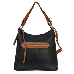 c893b49d9fea16 Concealed Carry Leather Two-Tone Hobo by Roma Leathers. Concealed Carry  PurseBlack ...