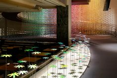 emmanuelle moureaux's installation in tokyo immerses visitors in a spiral of color