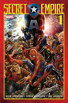 What if your greatest ally was secretly your greatest enemy? Beginning May 3 prepare for Marvel Comics Secret Empire! Blockbuster creators Nick Spencer Steve McNiven Andrea Sorrentino and Leinil Yu are ready to challenge the entire Marvel Universe as they unite the Avengers X-Men Defenders Champions Inhumans Spider-Man and more as an unwavering front against the Secret Empire!  The Marvel Universe is under siege from within! Due to the manipulations of The Red Skull Captain America secretly…