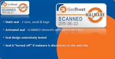 Geotrust Website Anti-Malware Scanning. GeoTrust will scan your website daily for Malware to ensure your website is free of malware.