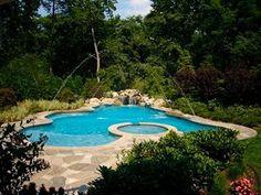 Relax it's Sunday! #WoodsidePoolDesign #NJPool #OutdoorLiving #NewJersey #NewYork #pooldesign by woodsidepoolsnj Creative backyard pool designs.