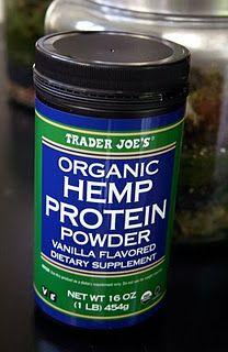 Trader Joe's Organic Hemp Protein Powder. I like both the vanilla and chocolate flavors. Yummo!!