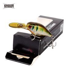 5pcs 3D Eye 75mm Floating Bass Crankbait Tackle Minnow Fishing Lure 6Hooks w//Box